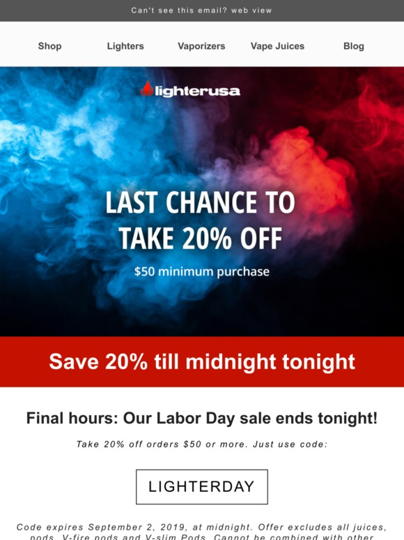 lighter USA: Final hours ⏳ Sale ends tonight! | Milled