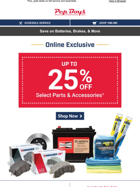 Discount Tire Labor Day Sale >> Pep Boys Labor Day Sale Up To 25 Off Inside Milled