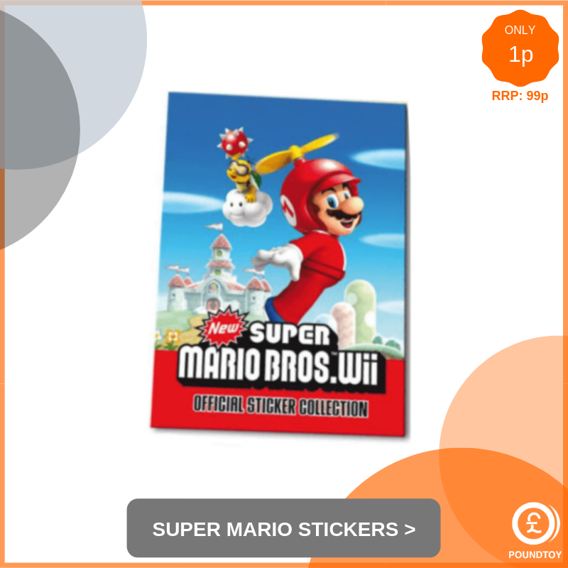 Super Mario Bros Wii Stickers