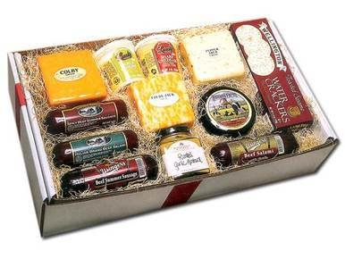 Image of Deluxe Wisconsin Cheese and Sausage Gift Box