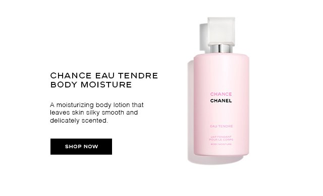 CHANCE EAU TENDRE BODY MOISTURE A moisturizing body lotion that leaves skin silky smooth and delicately scented.