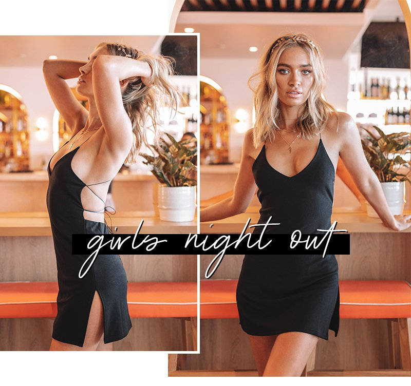 girls night out - delilah dress black
