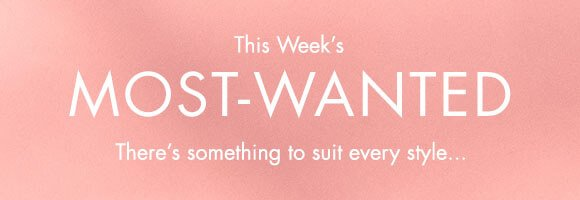 This week's most-wanted