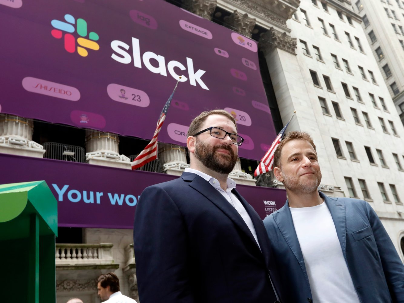 Slack stock is down 12% after its first earnings as a public company, in which it posted a big loss — including $8 million in credits to customers after outages