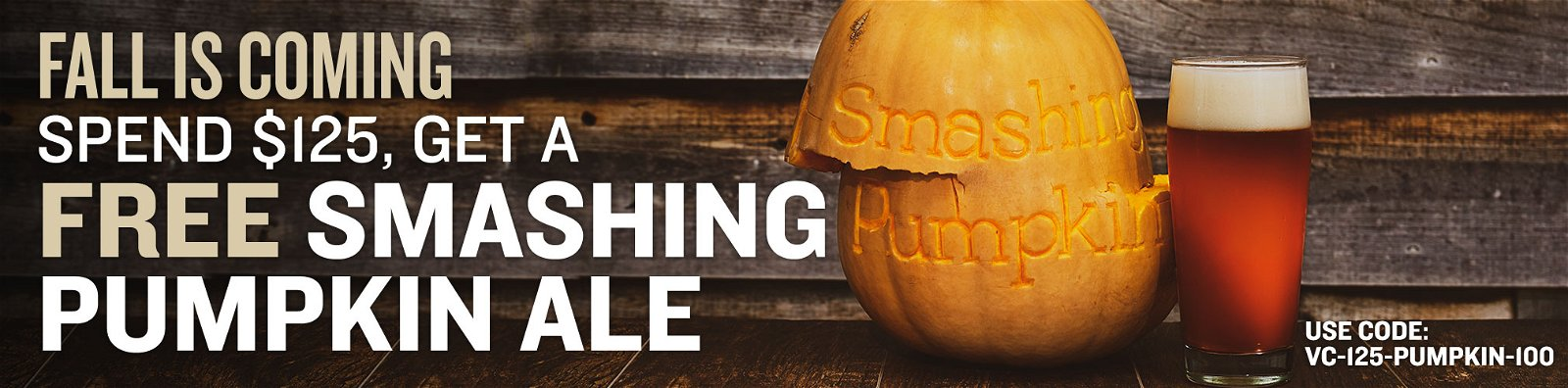 Free Smashing Pumpkin with Orders Over $125