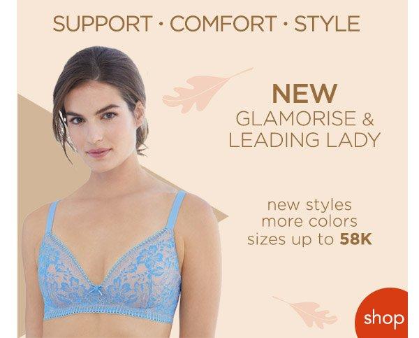 Shop Glamorise & Leading Lady Bras!