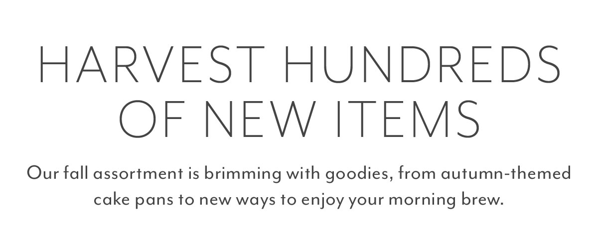 Hundreds of New items