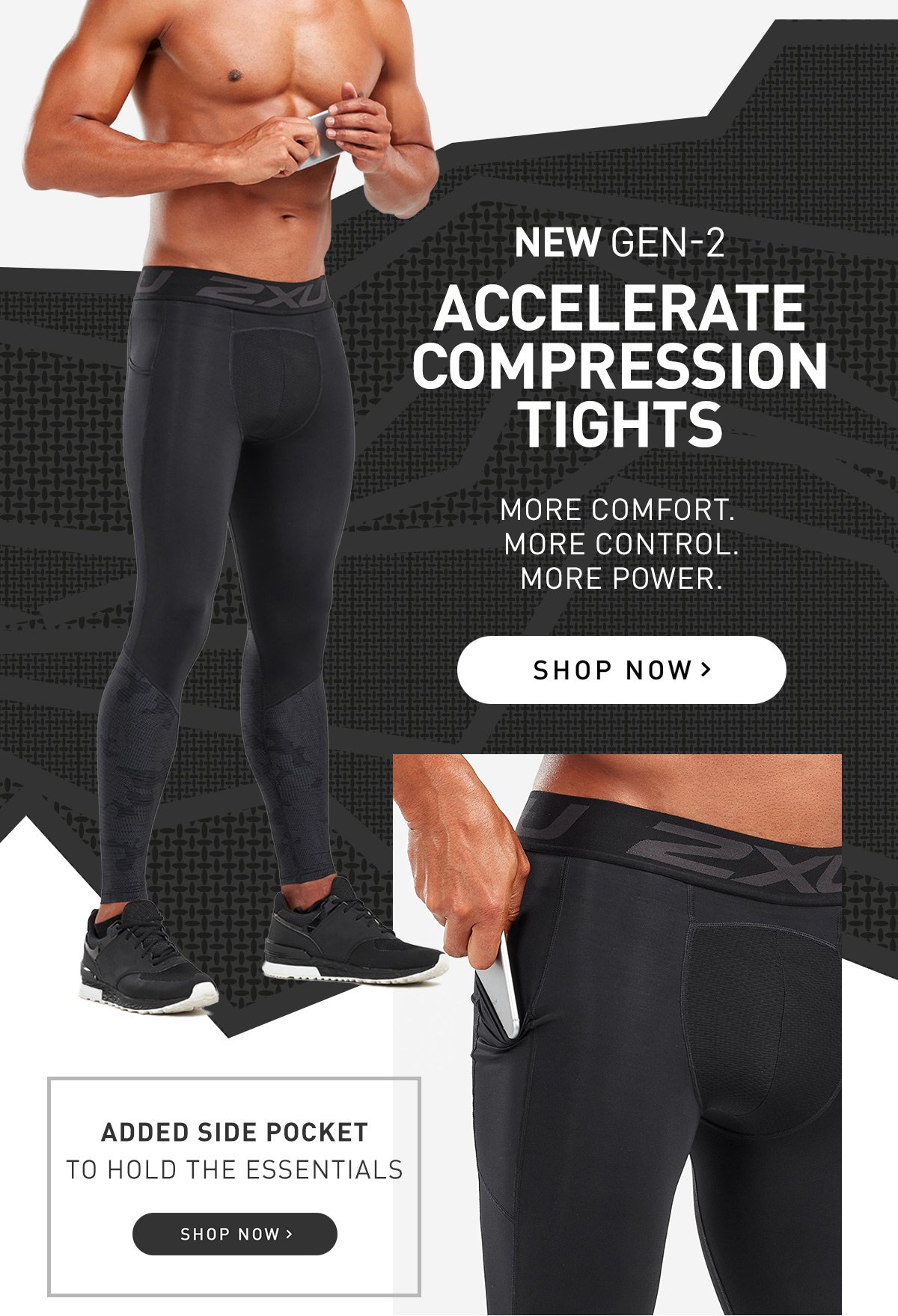 Shop the new Gen-2 Accelerate Compression Tights