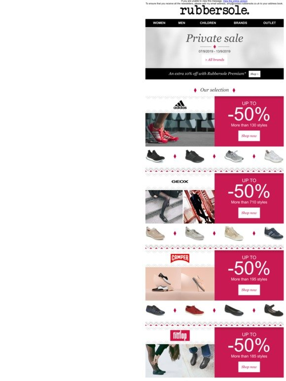 avance tema Pepino  Rubber Sole Email Newsletters: Shop Sales, Discounts, and Coupon Codes -  Page 8