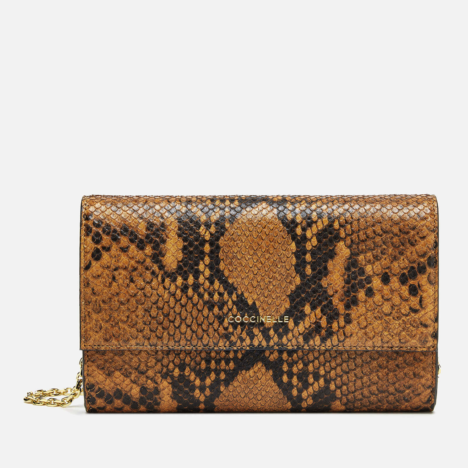 Coccinelle Women's Metallic Python Chain Bag