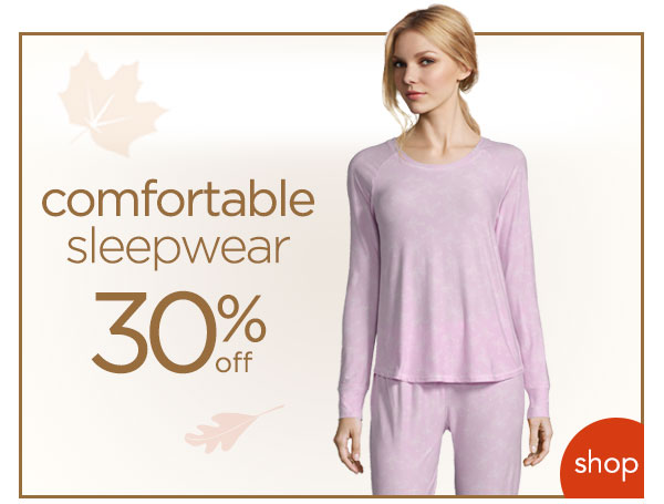 Save on sleepwear! - Turn on your images