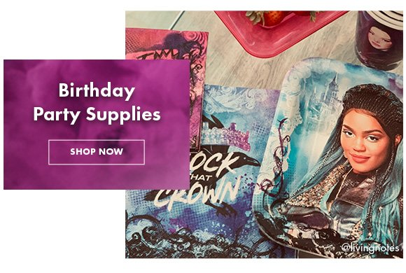 Birthday Supplies. Shop Now