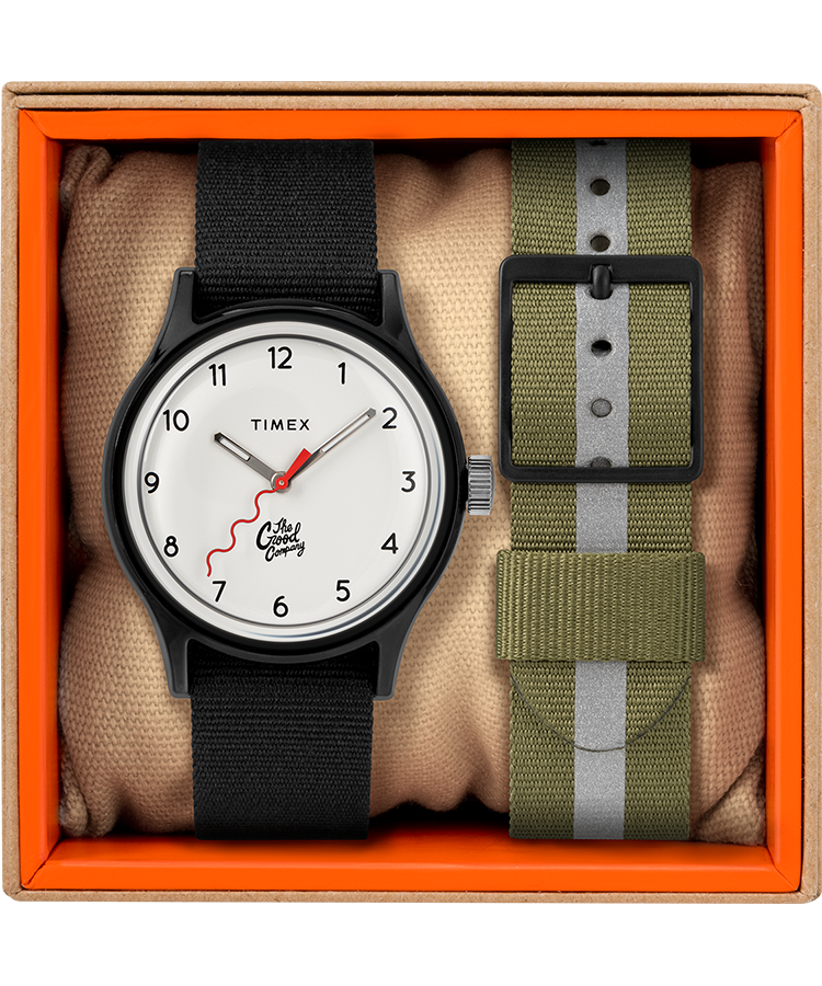 The Good Company for Timex MK1 36mm Fabric Strap Watch with Extra Strap