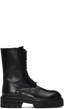 Ann Demeulemeester - Black Tucson Lace-Up Boots