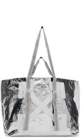 Off-White - Silver New Commercial Tote