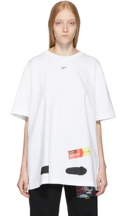 Off-White - SSENSE Exclusive White Incomplete Spray Paint T-Shirt