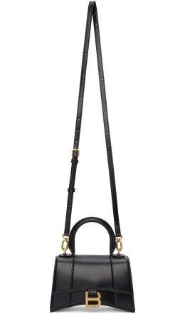 Balenciaga - Black XS Hourglass Top Handle Bag
