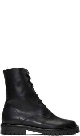 Ann Demeulemeester - Black Oil Boots