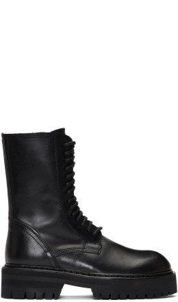 Ann Demeulemeester - Black Tucson Lace-Up Boots