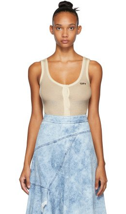 Off-White - White Buttoned Up Bodysuit