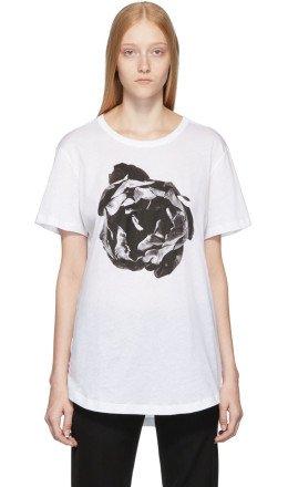 Ann Demeulemeester - White Flower Print T-Shirt