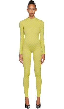 Off-White - Yellow Bubble Check Jumpsuit
