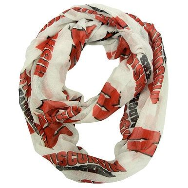 Image of Wisconsin Badgers Sheer Infinity Scarf