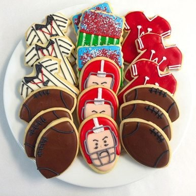 Image of Wisconsin Badgers Decorated Sugar Cookie Gift Tin