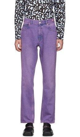 Martine Rose - Purple Straight-Leg Jeans