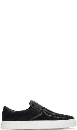 Amiri - Black Skel Toe Slip-On Sneakers