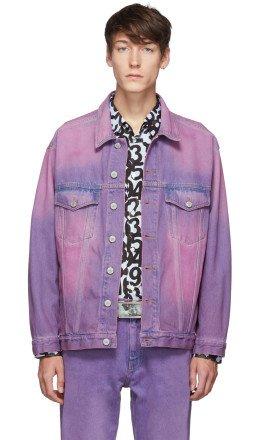 Martine Rose - Purple Oversized Denim Jacket
