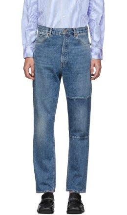 Martine Rose - Blue Panel Jeans