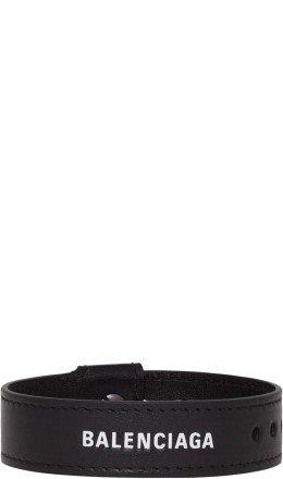 Balenciaga - Black Leather Party Bracelet