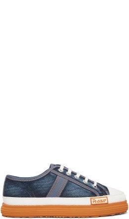 Martine Rose - Blue Denim Low Basketball Sneakers