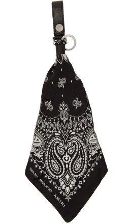 Amiri - Black & White Bandana Keychain