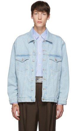 Martine Rose - Blue Oversized Denim Jacket