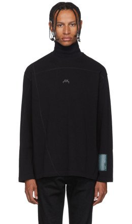 A-Cold-Wall* - Black Overlock Turtleneck