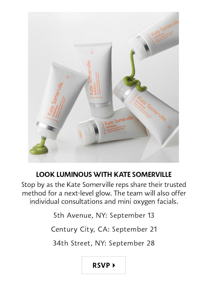 Look Luminous with Kate Somerville