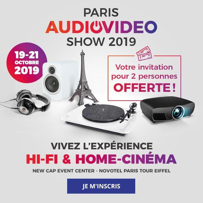 ParisAudioVideoShow2019. Votre invitation pour 2personnes offerte! Du 19 au 21 octobre2019: vivez l'expérience hi-fi et home-cinéma. NewCap EventCenter -NovotelParis TourEiffel. Je m'inscris.