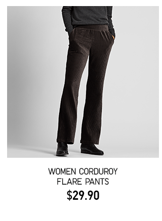 BODY1 PDP3 - WOMEN CORDUROY FLARE PANTS