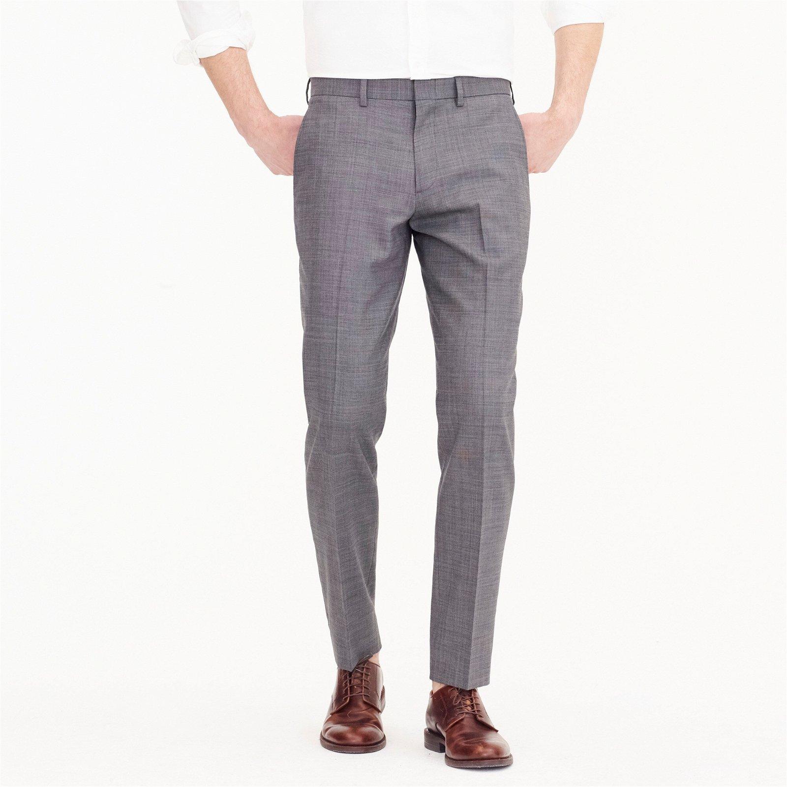 Ludlow Slim-fit stretch dress pant in four-season wool