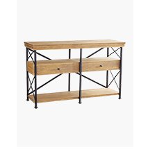 Weathered Java fifty five inch TV Stand