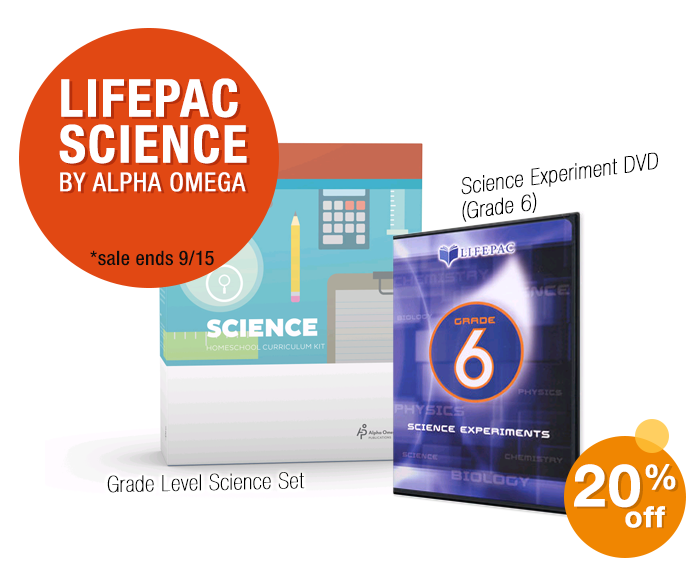 LIFEPAC by Alpha Omega - 20% off through 9/15/19