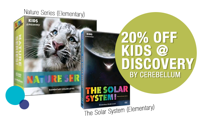 20% off Kids @ Discovery by Cerebellum