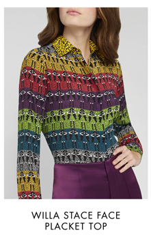 WILLA STACE FACE PLACKET TOP