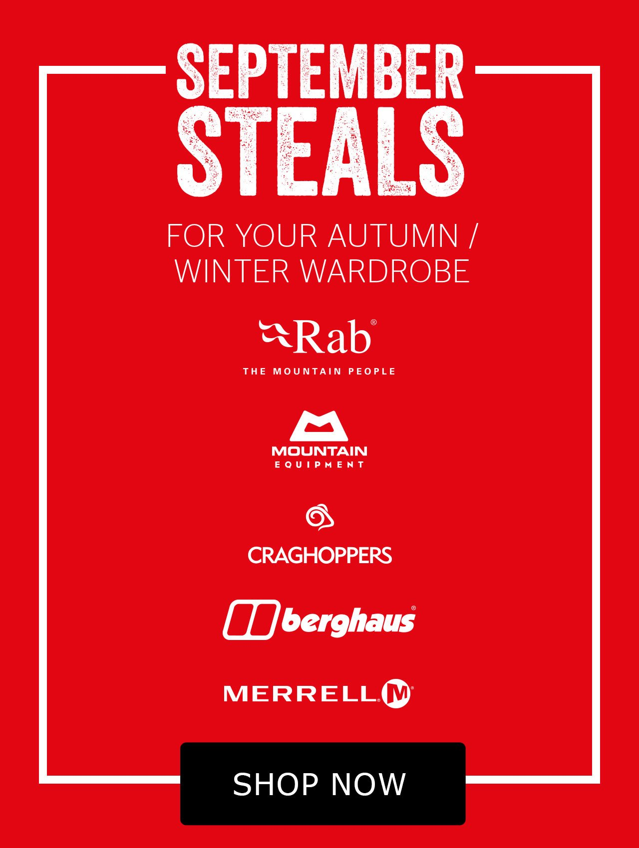 September steals for your autumn/winter wardrobe - get them before they're gone