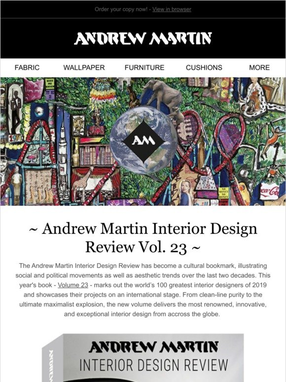 Andrew Martin Just Landed Vol 23 Interior Design Review Milled