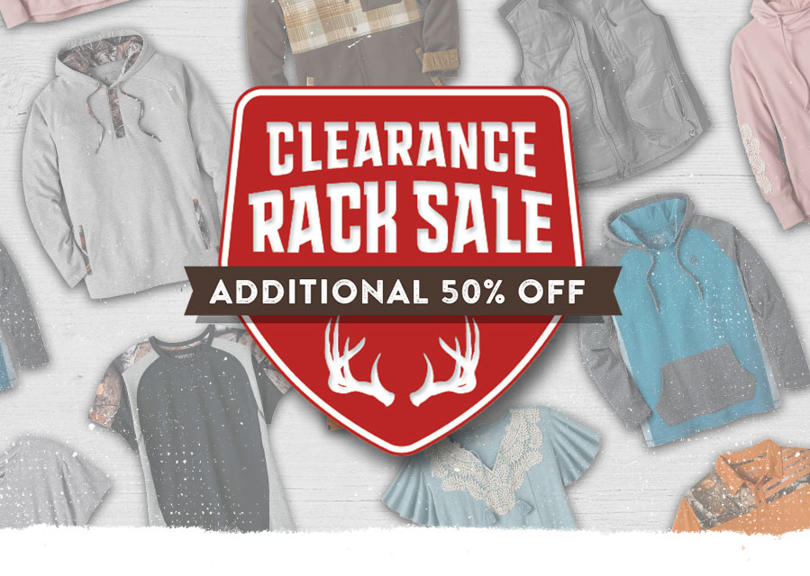 Clearance Rack Sale - Additional 50% Off