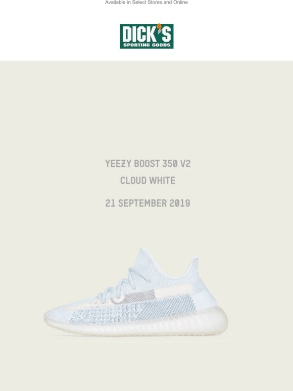 Yeezy Boost 350 V2 Cloud White. Coming