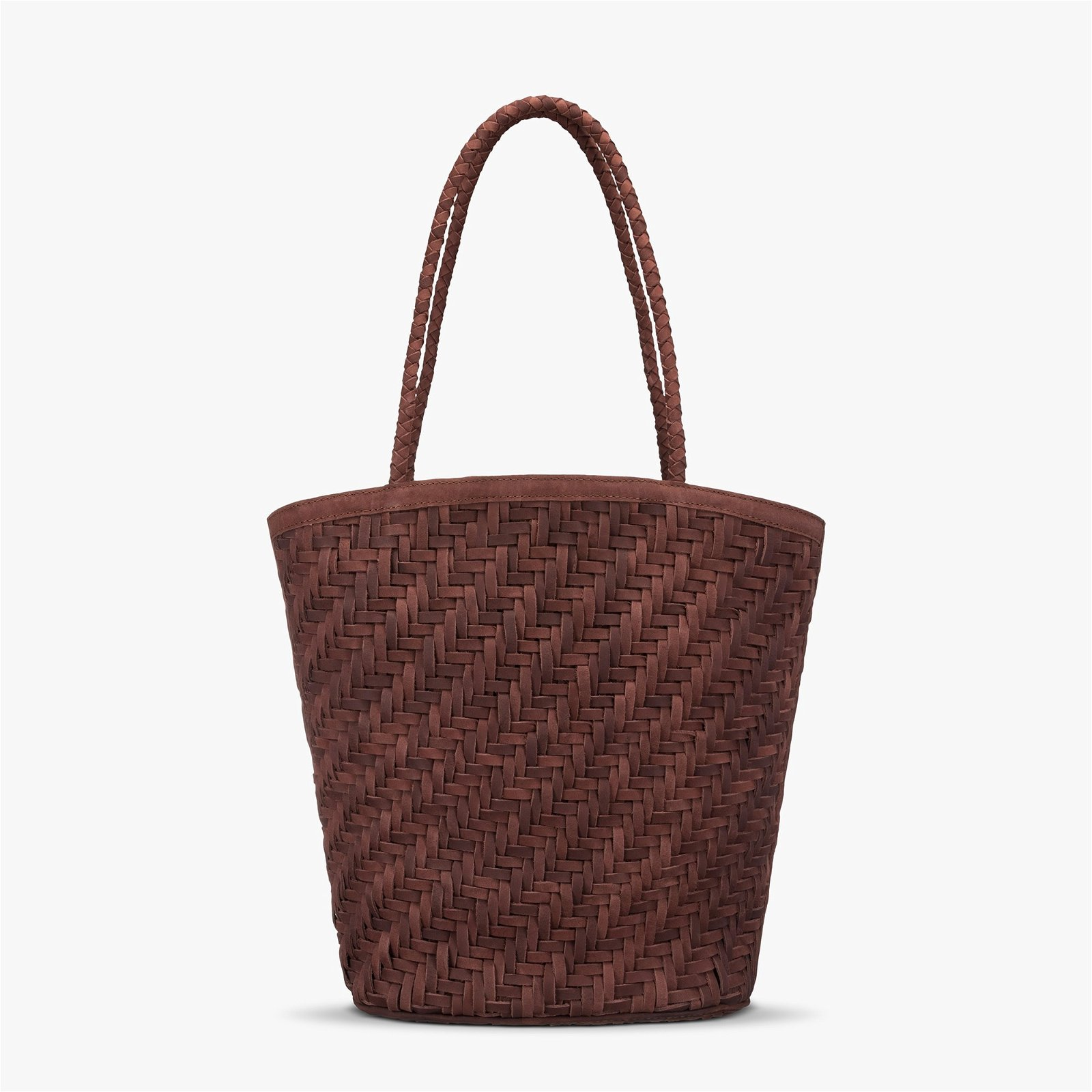 Bembien® Jeanne leather woven market tote bag